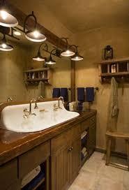 vintage cabin lighting for bathroom vanity interiordesignew com