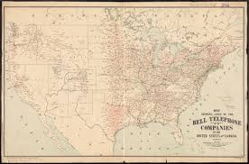 The United States And Canada Map by Map Showing Lines Of The Bell Telephone Companies In The United