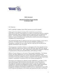 agenda bureau society statement during the igf consultation