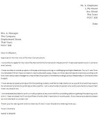 painter cover letter example construction icover org uk