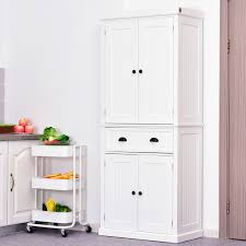 large kitchen storage cupboards homcom 72 colonial style free standing kitchen pantry