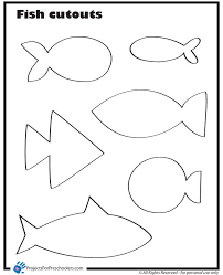 cut outs fish cut outs projects for preschoolers