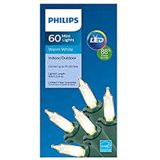 philips warm white led lights 60 ct green