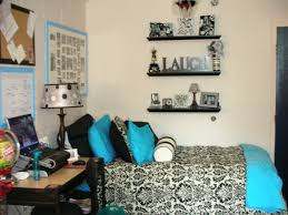 Black White Turquoise Teal Blue by The Lovely Side Black White Teal U0026 Flocked Dorm Ditto 3