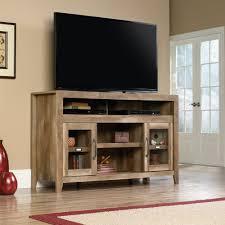 amazon com sauder dakota pass tv stand in craftsman oak home