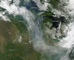 Wildfires In South West by Smoke From Canadian Wildfires Drifts Down To U S Nasa
