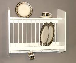 wall mounts for decorative plates amazon com plate rack with shelf natural made in usa dish racks