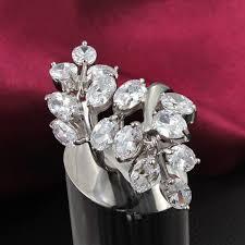 beautiful big rings images Leaves branch beautiful big rings cz ring bridal accessories jpg