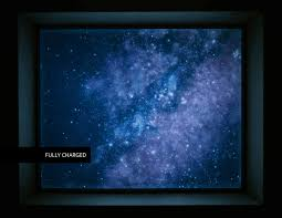 glow in the dark poster a self adhesive glow in the dark mural with a view of the milky way