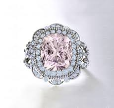 morganite engagement ring white gold sapphire studios liberty morganite white gold