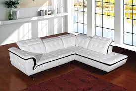 Modern White Sectional Sofa by Divani Leather Sofa And Divani Casa Cobana Modern White Italian
