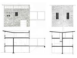 Esherick House Floor Plan by Stone House Tavole Italy Project 1982 Realization 1985 1988