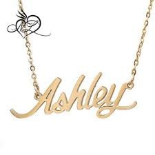 Cheap Name Necklaces Customized Personalized Cursive Ashley Carrie Name Necklace Ashley