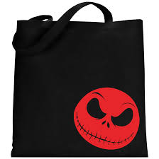 skellington tote bag 100 cotton from the nightmare