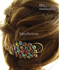banana clip for hair 2018 the peacock hairpin duckbill clip banana clip hair accessory