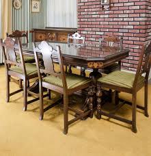 vintage dining table with chairs by berkey u0026 furniture ebth