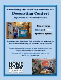 show your spartan spirit in the homecoming office residence hall