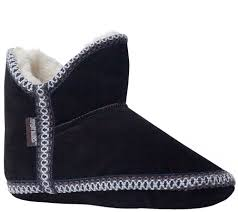 zulily s boots muk luks s suede amira slipper boots page 1 qvc com