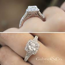 gabriel and co engagement rings cushion cut engagement rings gabriel co