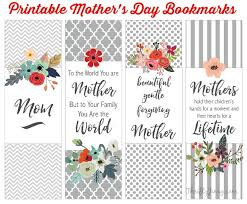 mothers day books s day books will printable bookmarks