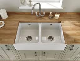 Lamona White Ceramic Double Belfast Sink Kitchen Pinterest - Kitchen with belfast sink
