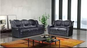 Luxury Leather Sofa Set 3 2 Seater Sofa Set Living Room Suite Faux Leather Black Foam