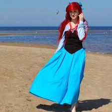 Ariel Mermaid Halloween Costume Costumes Custom Fantasia Halloween Women Girls