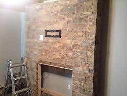 Stacked Stone Around Fireplace by Stone Around Gas Fireplace Home Design Ideas