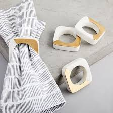 how to set a table with napkin rings stackable napkin ring set west elm