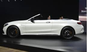 mercedes amg convertible 2017 mercedes amg c63 cabriolet debuts in york live photos