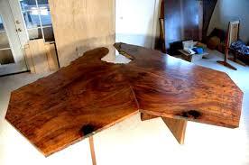 Walnut Slab Table by Modular 2 Piece Claro Walnut Slab Table By Dumond U0027s Furniture