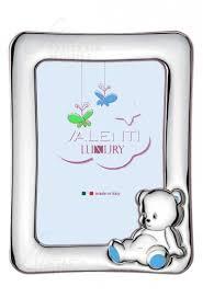 cornice battesimo bimbo cornice portafoto baby argento valenti 73105 regalo battesimo celeste