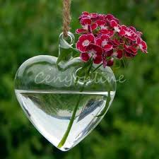 Wholesale Glass Flower Vases Wholesale Price Transparent Hanging Glass Heart Bell Star Plants