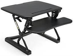 height adjustable sit stand desks fixed keyboard tray