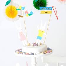 meri meri rabbit bunny cake toppers meri meri