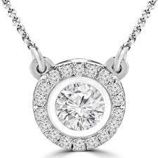 diamond necklace round images Bezel set diamond necklace bijoux majesty jpg
