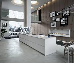 cuisine dans loft cuisine moderne avec grand ilot central dans un loft kitchen