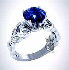 blue promise rings images Kingdom hearts inspired blue sapphire engagement promise ring jpg