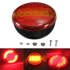 universal led tail lights 12 24v universal led rear tail stop indicator light round truck