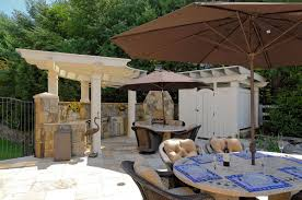 kitchen interactive ideas for outdoor kitchen decoration using