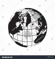 Outline World Map Around World Outline World Map Latitude Stock Vector 513073888