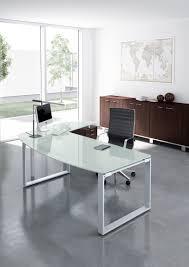 bureaux en verre bureau en verre rondo retour sur caisson achat bureaux de