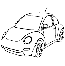 volkswagen beetle car coloring pages place color