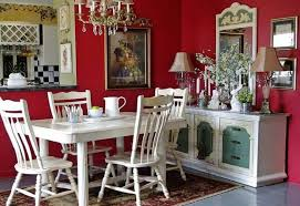 French Country Wall Art - french country dining room ideas with red walls and white