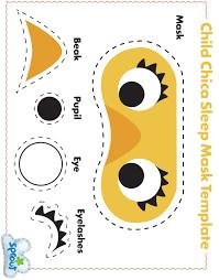1 child chica sleep mask template jpg 2460 3143 fun with felt