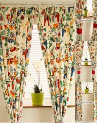 Retro Floral Curtains And Bold Reactive Dyeing Floral Windows Curtains