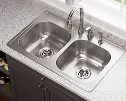 Drop In Stainless Steel Sink Us1022t Topmount Double Equal Bowl Stainless Steel Sink