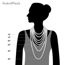 necklace length pendant images Black 6 7mm necklace pearl pendant white gold plated chain png