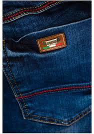 modré pánské džínové jogger kalhoty bolf 639