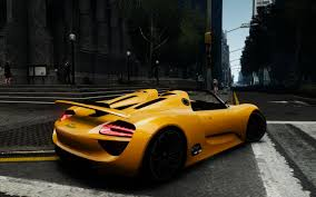 porsche spyder yellow gta gaming archive